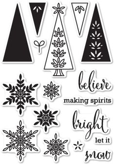 Memory Box Clear Stamps MAKING SPIRITS BRIGHT Open Studio CL5186 Preview Image