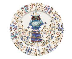 Piatto piano in vetro porcellanato multicolor taika - d 27 cm