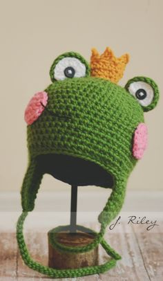 Frog Prince Crochet Hat