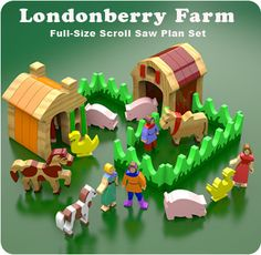 Londonberry Farm Wood Toys Scroll Saw Plan Set