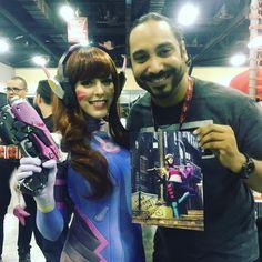 Drak contento junto a la #cosplayer Nadya Sonika en #MaltaIndiaFanCon #puertorico #cosplay #dva #overwatch #gambit