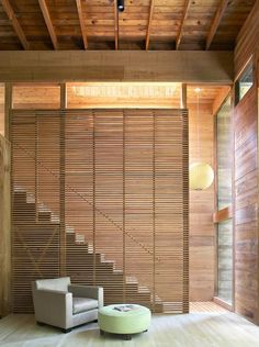 Staircase to Living Room By Bates Masi