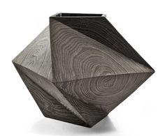 "Untitled (Twisted Box II). Stoneware, glazed interior. 9"" x 9"" x 9"". 2014"