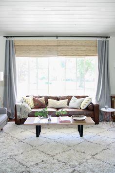 Crazy Wonderful Woven Wood Shades | Bamboo roman shades, White ...
