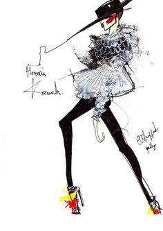 illustrating LONDON FASHION WEEK A/W 2010 | Kelly Anna