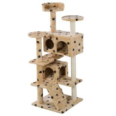 HPD 52' Cat Tree Tower Condo Furniture Scratch Post Kitty Pet House Play >> Awesome cat product. Click the image : Cat Tree