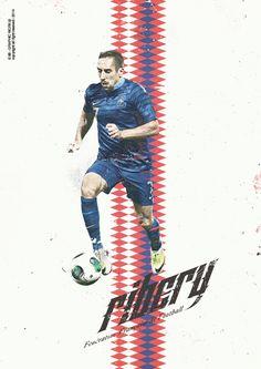 Franck Ribéry by Giuseppe Vecchio Barbieri, via Behance God Of Football, Football Icon, Football Art, World Football, Brazil World Cup, World Cup 2014, Fifa World Cup, Soccer Art, Soccer Poster