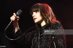 Lauren Mayberry of Chvrches performs during Live 105's Not So Silent Night at ORACLE Arena on December 11, 2015 in Oakland, California.