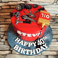 Ideas birthday cake for husband dads fathers day for 2019 40th Birthday Cakes For Men, Toddler Birthday Cakes, Funny Birthday Cakes, Birthday Cake For Husband, Pink Birthday Cakes, Homemade Birthday Cakes, Mechanic Cake, Dad Cake, Cakes For Boys