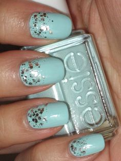 essie mint candy apple with set in stones