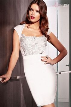 Lipsy Lace Beaded Detail Dress from the Next UK online shop