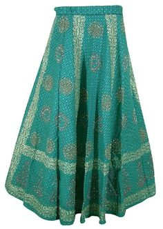 ClothesCraft Womens Long Skirt Spring Summer Clothing India- Length 40 inches, Waist Free Size Wrap on ( Max 41 inches )