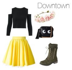 """""""Cute outfit for going downtown! Very pastel-esc"""" by peachy-elaine on Polyvore featuring Philipp Plein, Anya Hindmarch and Forever 21"""
