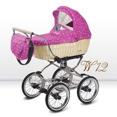 Carricoche bebé BabyActive Ballerina mimbre rosa topos [BALLERINA MIMBRE W12]   450,00€ : La tienda online para tu peke   tienda bebe pekebuba.com #cochecito, #cochecitobebe, #carrito, #carricoche, #cochecitoclasico