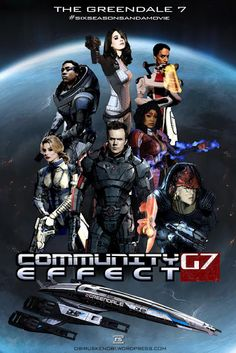 Cool Art: Community / Mass Effect Mash Up Posters by Rus Silmaro.