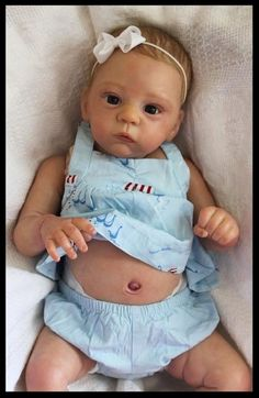 *REBORN DOLL BABY GIRL from HARLOW kit by LAURA T ROSS With TUMMY PLATE*