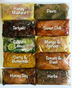 Chicken marinade recipes - 10 Freezable Marinaded Chicken Meals Maggie's Little Kitchen A Food, Good Food, Food And Drink, Yummy Food, Uber Food, Freezer Cooking, Cooking Recipes, Healthy Recipes, Healthy Freezable Meals