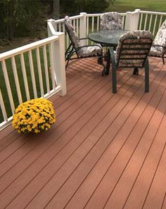 Backyard deck looking faded and dirty? Here are step-by-step directions to clean it up and get it looking new again. Sunrooms And Decks, Decks And Porches, New Patio Ideas, Backyard Ideas, Deck Colors, Deck Pictures, Outdoor Living, Outdoor Decor, Outdoor Spaces