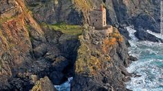 Cornwall's ruined mines, England. Old mines are reborn as tourist attractions.