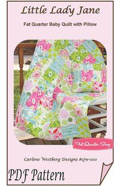 Little Lady Jane Downloadable PDF Quilt Pattern Carlene Westberg - Fat Quarter Shop