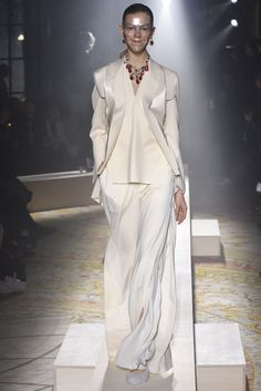 Cream on white. Undercover RTW Fall 2015 | WWD. Long live fashion: LÜR Nail presents the best designer runway looks of the Paris Autumn/Winter 2015 Collections.