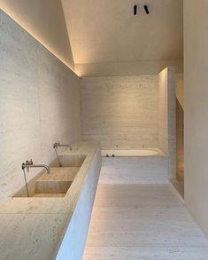 Home Decor Minimalist .Home Decor Minimalist Cheap Rustic Decor, Cheap Home Decor, Bathroom Interior Design, Home Interior, Travertine Bathroom, Interior Minimalista, Cheap Bathrooms, Minimalist Interior, Interiores Design