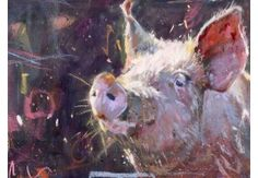 Gilling Pig 3 beautiful animal art by James Bartholomew