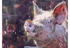 Gilling Pig 3 beautiful animal art by James Bartholomew