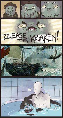 slenderman and the kraken :) The Puppeteer Creepypasta, Creepypasta Cute, Familia Creepy Pasta, Creepy Pasta Family, Cute Comics, Funny Comics, Funny Pins, Funny Memes, Funny Videos