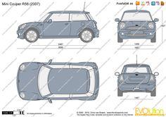 The-Blueprints.com - Vector Drawing - Mini Cooper R56