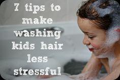 7 tips to make washing kids hair less stressful