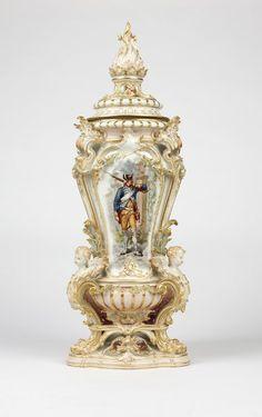 A large Berlin KPM porcelain covered vase : Lot 1019