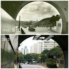 When the 9 de Julho tunnel was built under Av. Paulista in 1946, the city center was still to be seen at the horizon. Not the case anymore in 2013.