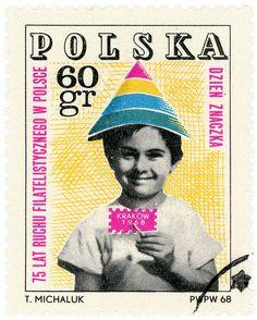 """c. 1968, commemorating """"75 Years of Polish Philately"""""""