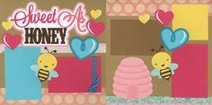 Sweet as Honey baby girl scrapbook layout