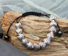Silver Heart & Black Cord friendship Bracelet-BR242 We Love Heart, Heart Jewelry, Friendship Bracelets, Originals, Cord, Silver, Hearts, Jewellery, Black