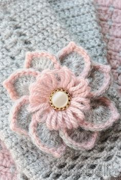 pink&grey.quenalbertini2: Crochet Flower | It's a Colorful Life