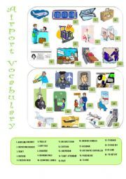 English Exercises: 4 exercises AIRPORT VOCABULARY
