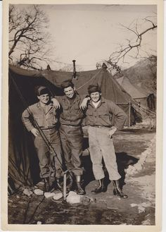 Verle Knauss, right, with Army buddies, South Korea, 1950 - '56? Medical unit