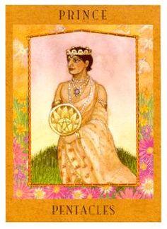 The Goddess Tarot Deck: Knight of Coins