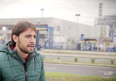 Logo del Comitato No Inceneritori. Terni, Umbria, Italy. Durante l'intervista a Maratta.