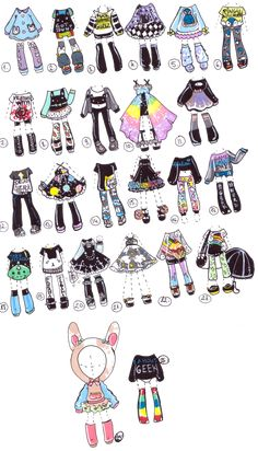 SOLD-MixedOutfits by Guppie-Adopts