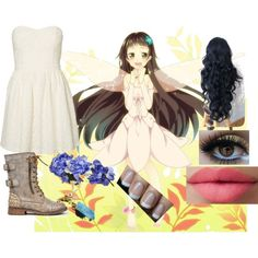 """""""Yui from Sword Art Online"""" by dancingwithsuperman on Polyvore"""