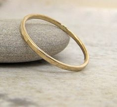 Hammered Gold 14k Gold Band. $75.00, via Etsy.