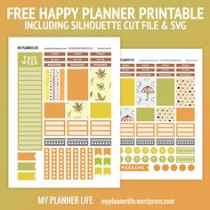 Visit the post for more. Happy planner, mini book, MB, Autumn, fall stickers