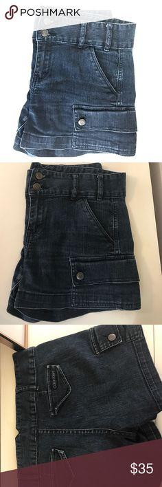 "Calvin Klein shorts EUC Calvin Klein shorts with button pockets on side. 99% cotton, 1% elastane. Approx. measurements: waist 33"", front rise 9.5, back rise 13, inseam 3.5, length 12.25. Size 29/8. Calvin Klein Shorts Jean Shorts"
