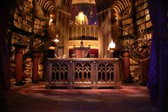 hogwarts castle interior | Dumbledore's Office inside Hogwarts at the Wizarding World of Harry ...