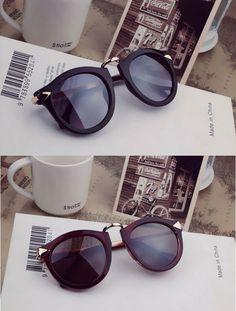Óculos escuros unisex redondo vintage