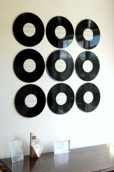 Create Some Cool Wall Art With Just Old Vinyl Records And Sheet Music