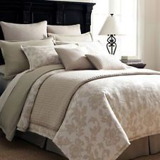 Neutral King Bedding | LINDEN STREET BLAIR KING COMFORTER SET NEUTRAL NEW NIB